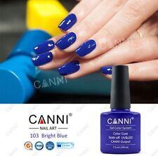 Canni 103 Azul Brillante UV Led Soak Off Gel Colores Nail Art 7.3ml Reino Unido Vendedor