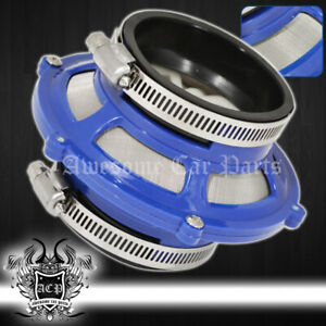 """For Nissan 76mm 3"""" Racing High Flow Cold Air Intake Dry Bypass Valve Filter Blue"""