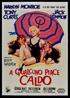 Manifesto IN Qualcuno Piace Caldo Wilder Marilyn Monroe Curtis Lemmon Cinema P13