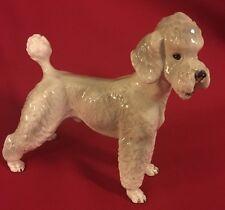 Excellent KERAMOS Wien Vienna Austria WHITE STANDARD POODLE Dog Figurine