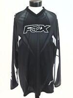 FOX RACING HC Jersey Logo Shirt Black Gray White Motorcross BMX Men's XXXL New