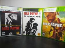 Max Payne Lot 1, 2 And 3 Xbox 360 Games