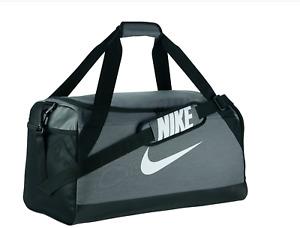 Nike Brasilia Medium Training Duffel Duffle bag Gray grey