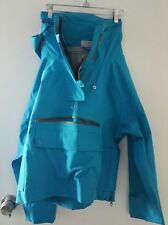 NEW Adidas Stella McCartney Pull On Rain Coat blue Jacket Size Small