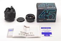 /【NearMint+w/BOX】Contax Carl Zeiss Tessar T* 45mm f/2.8 MMJ MF Lens (175-E550)