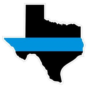 Texas TX State Thin Blue Line Police Sticker / Decal #143 Made in U.S.A.