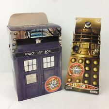 Doctor Who EMPTY Easter Egg Boxes Lot Figural Shaped Tardis & Dalek UK exclusive