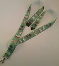 Labradoodle dog lanyard safety breakaway ID badge holder handmade student gift