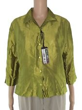 ralph lauren blusa camicia donna verde manica 3/4 taglia l large