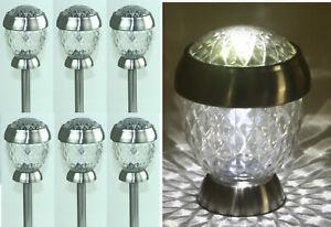 6er-Set Solithia Solarleuchten Kristall Mini