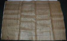 "Vintage Virginia Snow Studio Burlap Canvas 20"" x 32"" Rug Hooking Leaf Leaves"