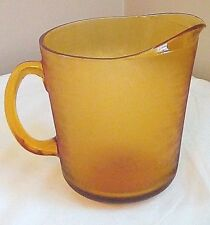 Vintage Amber Glass 2 Quart 1/2 Gallon Pitcher Beer Soda Barware Free Shipping!