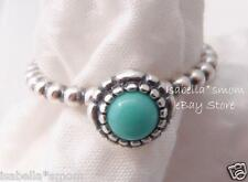 DECEMBER BIRTHDAY BLOOMS Authentic PANDORA Silver/TURQUOISE Stone RING 5/50 NEW