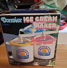 NEW VTG Donvier Chillfast Ice Cream Maker 1 Pint pink Rim Vintage NEW Old Stock