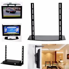 AU TV Wall Mount Bracket Glass Shelf Above Below Under Component Cable Box DVD