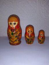 Vintage Russian Nesting Dolls 3 pc