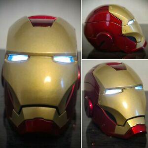 "Marvel Iron Man Full Metal Mk 3 Light Up Helmet Model 2.7"" Display Collectable"