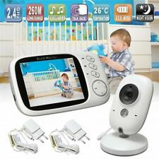CAMARA Y AUDIO  PARA  BEBE Baby Monitor Night Vision LCD Screen 2 Way Talk 8