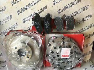 Front &  Rear Brake Pads / Discs Eicher - Fits Peugeot RENAULT Citroen 104545249