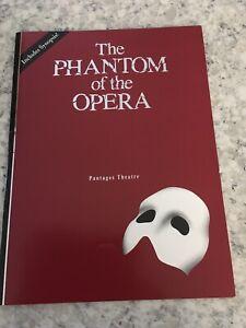 Paul Stanley Phantom Of The Opera Program  with Poster