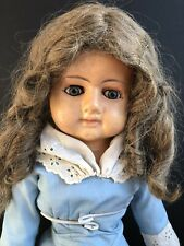 "Antique German 26"" Papier Mache Doll with Glass Eyes"