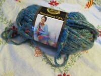 NEW LION BRAND HOMETOWN USA Key Largo Tweed Blue Yarn Acrylic Rayon 113 g