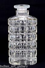 Rare Antique Decor White Cut Crystal Clear Glass Decanter Collectible. i31-56 US