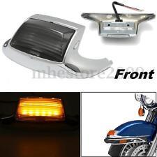 Front Mud Guard Trim Fender Tip LED Light For Harley Classic Road King Glide FL