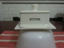 Butter Dish Black On White