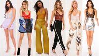 UK Strappy Plunge V Neck Full Lace Cross Bodycon Bodysuit Women Lingerie Top New