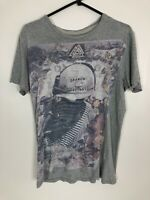 Allsaints XS Search And Destroy Grey T Shirt Mens