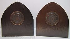 Old Sigillvm Collegii Kevkiensis Keuka College NY Hammered Bronze Cpr Bookends