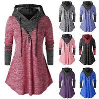 Women Winter Long Sleeve Hoodies Mini Dress Medieval Pullover Blouse Oversized