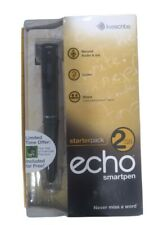 LiveScribe Echo Black Smart Pen Starter Pack 2GB - Record, Listen and Share