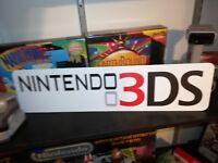 "Nintendo 3DS Display, Aluminum Sign, 6"" x 24""."