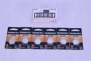 6x Duracell Batteries DL2025B 1.5 Volts 2025