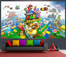 Wallpaper Mural Super Mario 3D World Game Big 200x340cm, Kids room, 8 panels