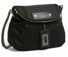 NWT MARC JACOBS Black Preppy Nylon Natasha Shoulder Crossbody Bag M0014625 $200
