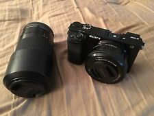 Sony A6000 Black Wi-Fi Digital Camera with 16-50mm and 55-210mm lens