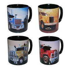 MACK BULLDOG TRUCK  Coffee Mug set    4 per set MACK TRUCK COFFEE MUGS