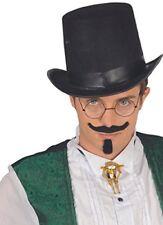 Guirca Cappello Cilindro Nero Carnevale Halloween Uomo Donna adulto 13504