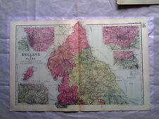 Inghilterra (Nord) anni 1890 Gate Mappa PIEGA