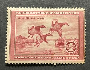 WTDstamps - #RW2 1935 - US Federal Duck Stamp - Mint H