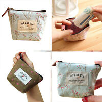 Lovely Lady Handbag Small Canvas Purse Zip Wallet Coin Key Holder Case Bag New