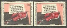 """FRANCE STAMP TIMBRE N° 1459 """" VIOLON ROUGE DUFY, 2 COULEURS """" NEUFS xx TTB"""