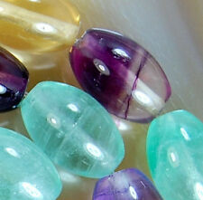8x12mm Natural Colorful Fluorite Oval Beads 15.5""