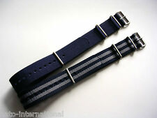 Blue-Grey NATO G10 watch band strap 2 pak Bonded IW SUISSE 18 20 22 24 NATO Intl