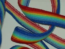 """1/2""""wide rainbow elastic trimming trim very stretchy 7 color mix By the yard"""