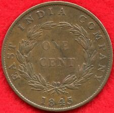 STRAITS SETTLEMENTS - 1 CENT - 1845 - EAST INDIA COMPANY  ** SCARCE **