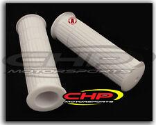 Honda Z50 K0 WHITE RUBBER GRIP SET, Non-OE, CHP Motorsports